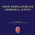 Baltic Journal of Health and Physical Activity, выпуск № 1 ()